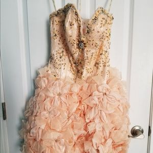 Formal Evening Homecoming Prom Dress Embroidery